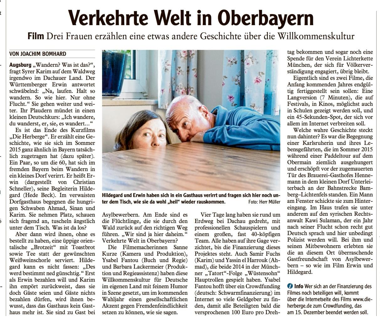 Artikel_Augsburger_Allgemeine_DieHerberge
